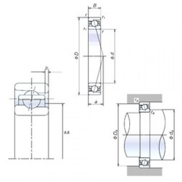 105 mm x 160 mm x 26 mm  NSK 105BER10S Duplex angular contact ball bearings #1 image