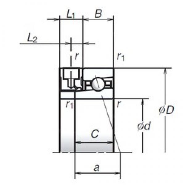 50 mm x 72 mm x 12 mm  NSK 50BER19XE aerospace applications Precision Bearings #1 image