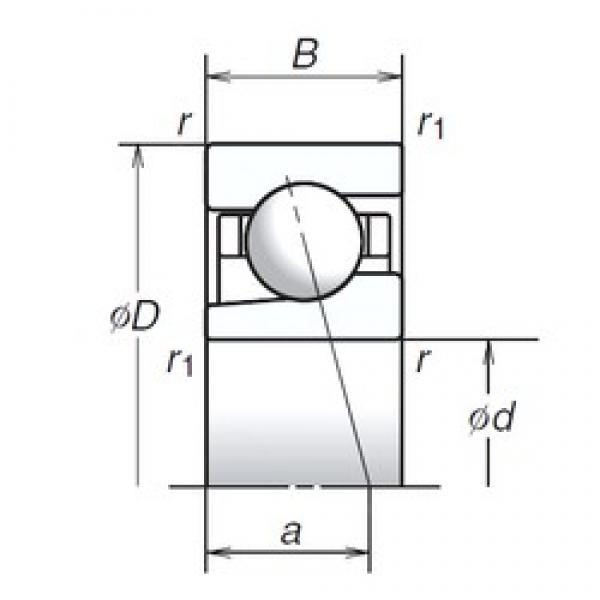 12 mm x 24 mm x 6 mm  NSK 12BGR19H Face-to-face duplex arrangement Bearings #1 image
