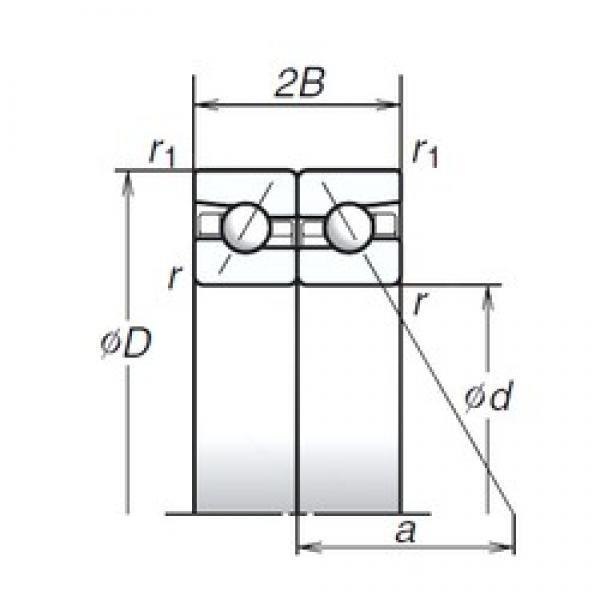 110 mm x 170 mm x 27 mm  NSK 110BTR10H High Accuracy Precision Bearings #1 image