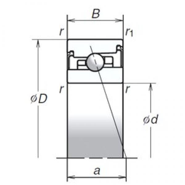 65 mm x 100 mm x 22 mm  NSK 65BER20SV1V Matched Angular Contact Ball Bearings #1 image