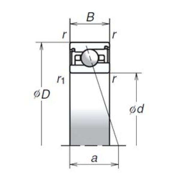 85 mm x 120 mm x 22 mm  NSK 85BER29SV1V duplex angular contact ball bearings #1 image