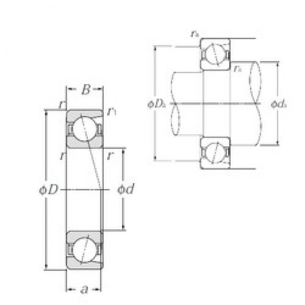 95 mm x 170 mm x 32 mm  NTN 7219C High Accuracy Precision Bearings #1 image