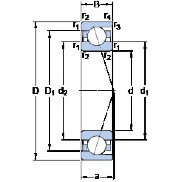 85 mm x 130 mm x 22 mm  SKF 7017 CD/HCP4A duplex angular contact ball bearings #1 image