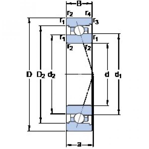 90 mm x 125 mm x 18 mm  SKF 71918 ACB/HCP4A Face-to-face duplex arrangement Bearings #1 image