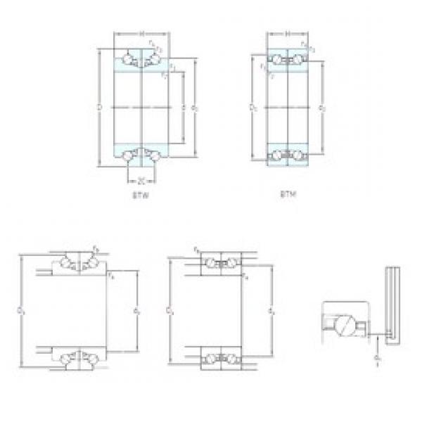 95 mm x 145 mm x 30 mm  SKF BTW 95 CTN9/SP Face-to-face duplex arrangement Bearings #1 image