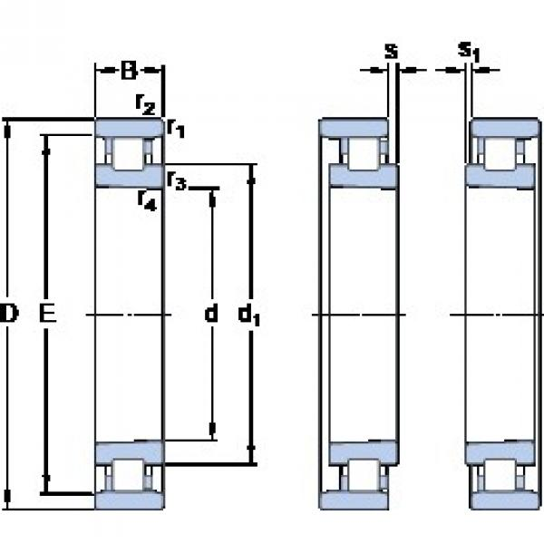 105 mm x 160 mm x 26 mm  SKF N 1021 KTNHA/HC5SP Face-to-face duplex arrangement Bearings #1 image